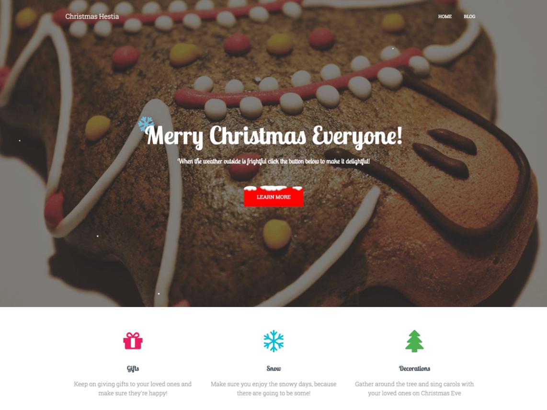 Christmas Hestia Theme Miễn phí Tải về