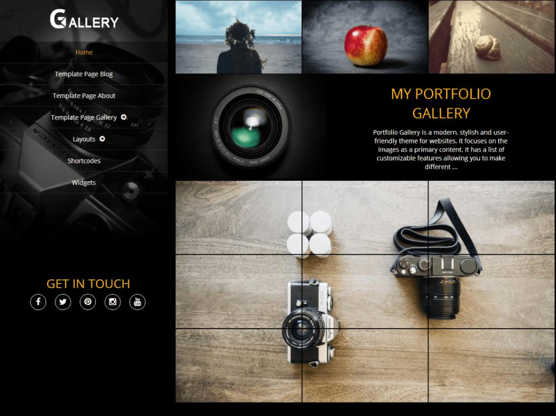 Portfolio Gallery Theme Miễn phí Tải về
