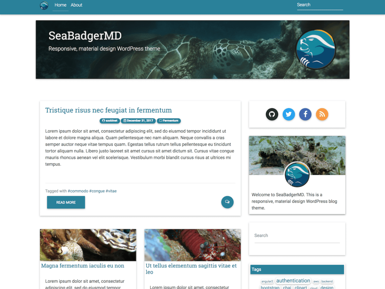 SeaBadgerMD Theme Miễn phí Tải về