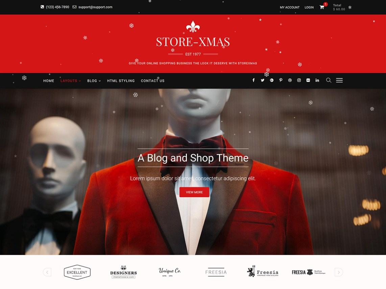 StoreXmas Theme Miễn phí Tải về