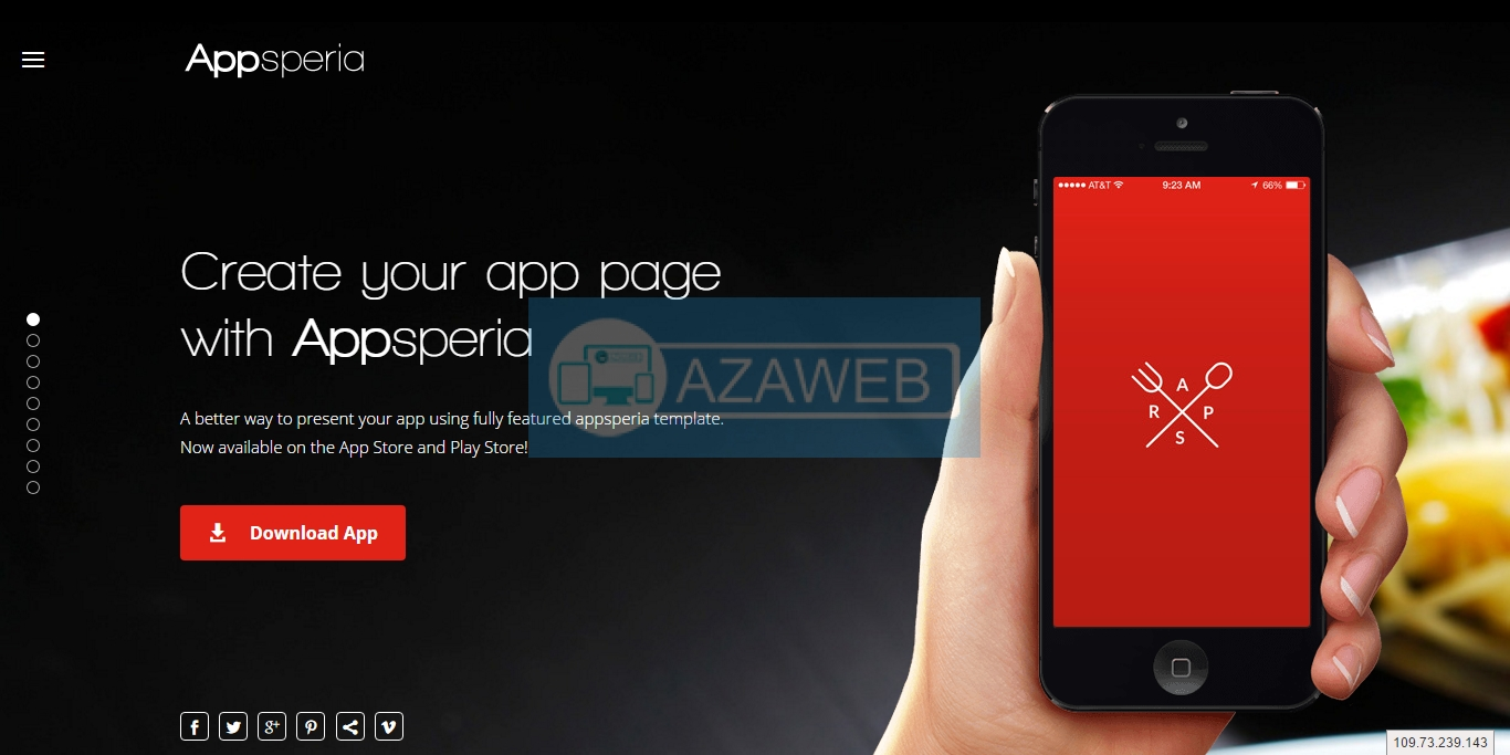 Landing page Appsperia