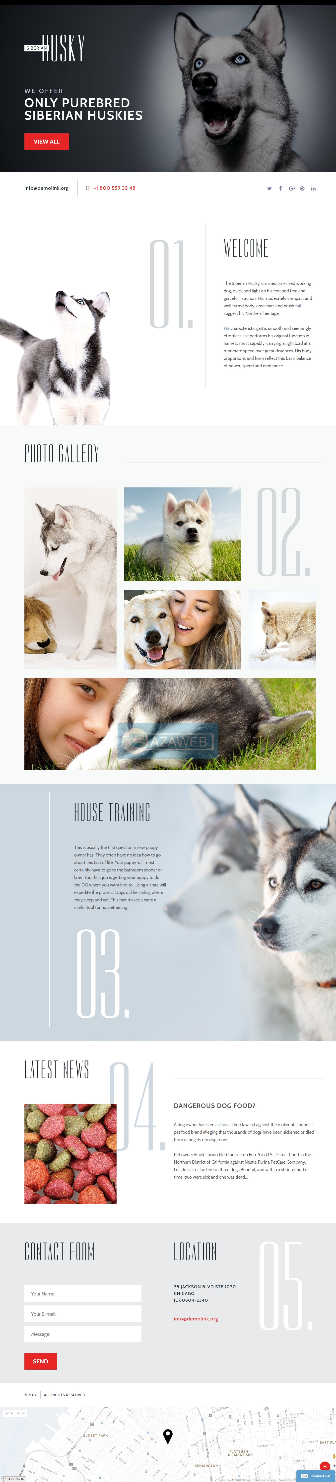 Landing page Canine