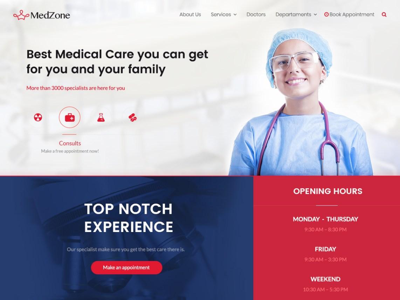 MedZone Lite Theme Miễn phí Tải về