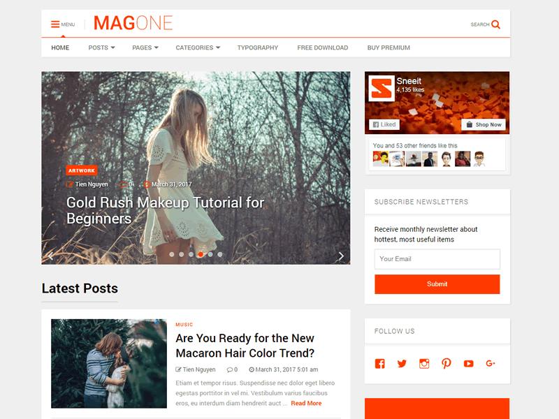 MagOne Lite Theme Miễn phí Tải về