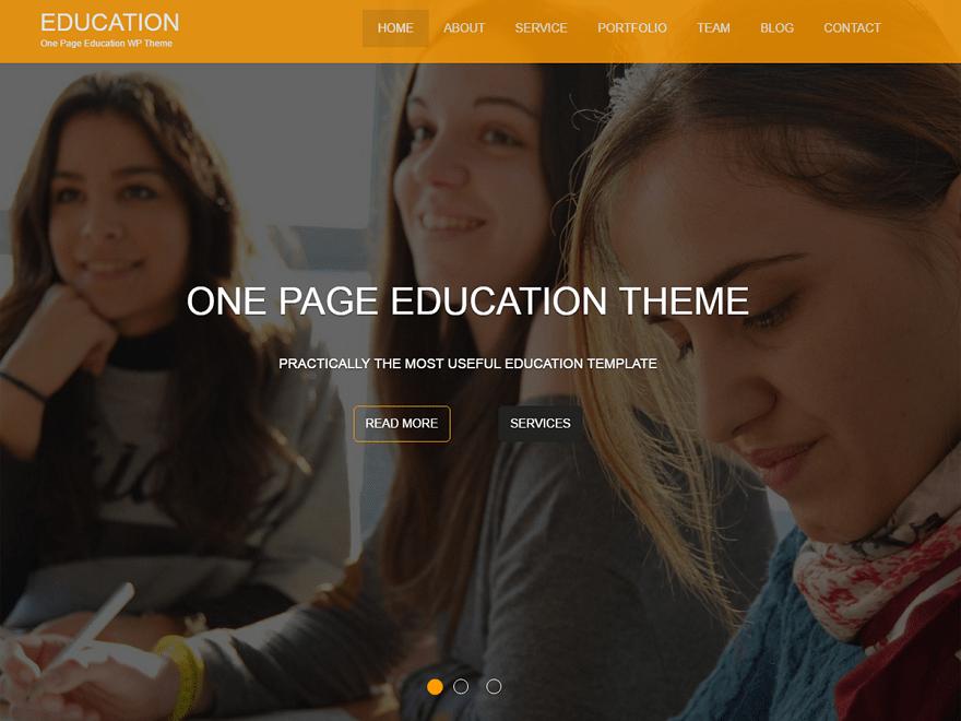 Education One Theme Miễn phí Tải về