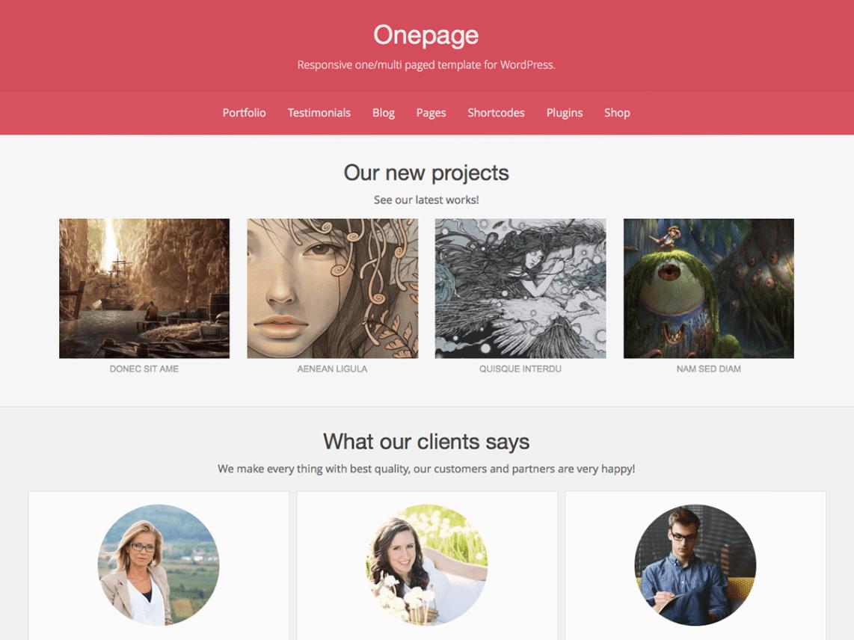 Onepage Chủ đề Miễn phí Tải về