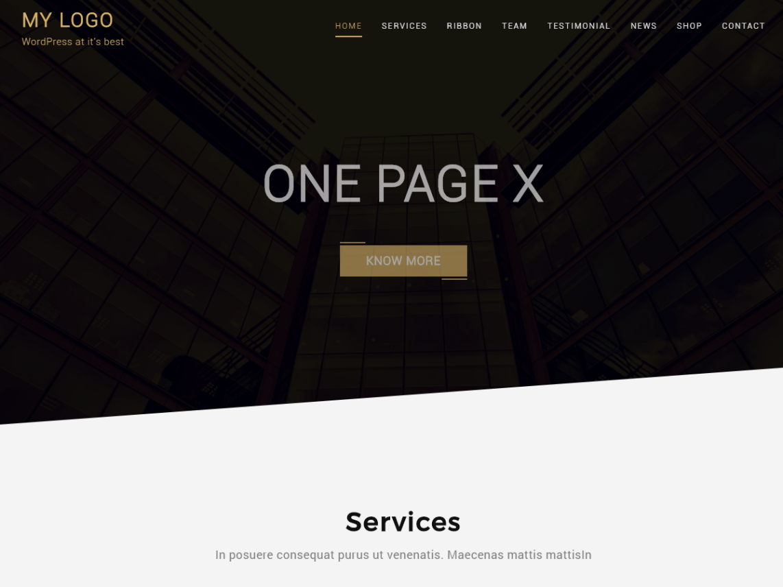 One Page X Theme Tải xuống miễn phí
