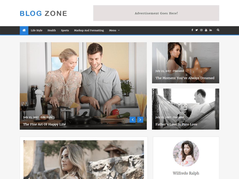 Blog Zone Theme Miễn phí Tải về