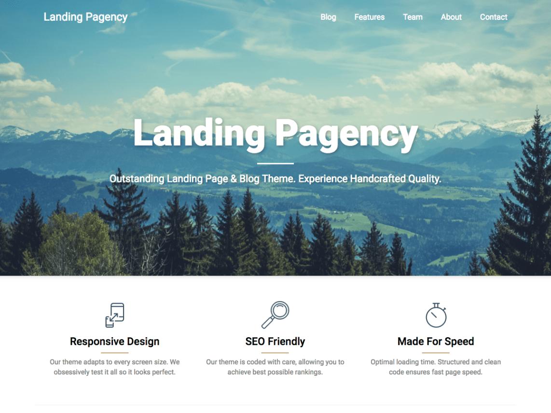 Landing Pagency Theme Tải xuống miễn phí