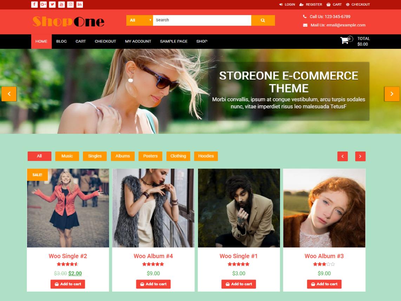 ShopOne Theme Miễn phí Tải về