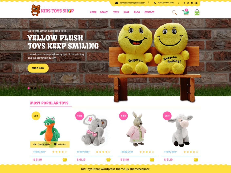 Kid Toys Store Theme Miễn phí Tải về
