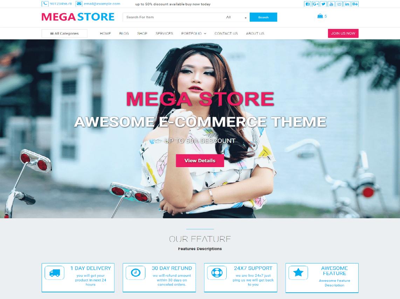Mega Store Theme Miễn phí Tải về