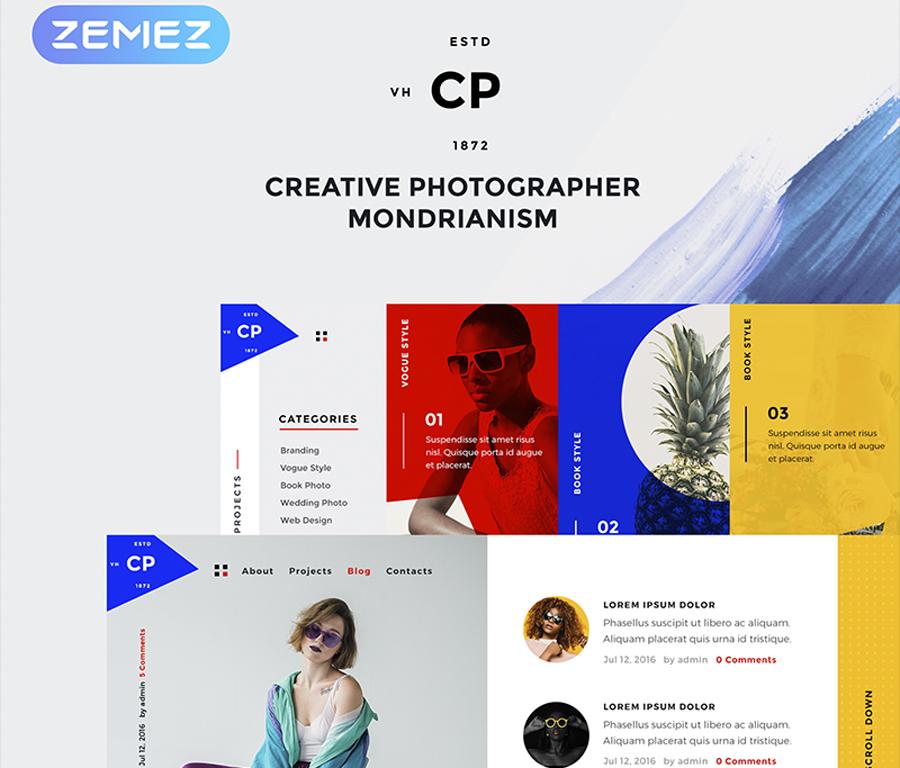 Nhiếp ảnh gia sáng tạo Elementor WordPress Theme