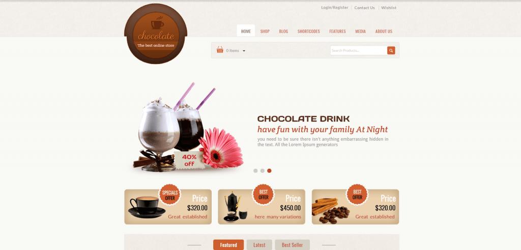 Chocolate - Cửa hàng bánh WooCommerce Theme