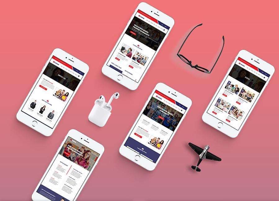 Eduhome - Mẫu trang web giáo dục