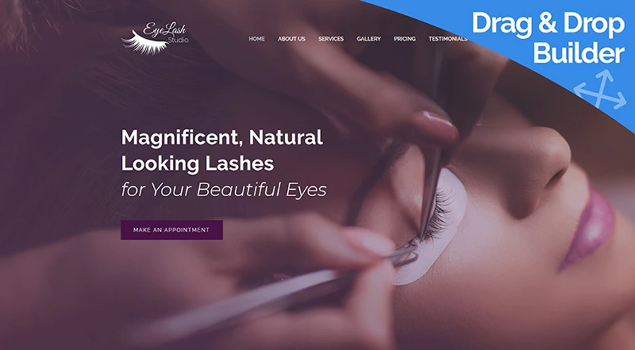 Eyelash Extension Studio Moto CMS 3 Mẫu