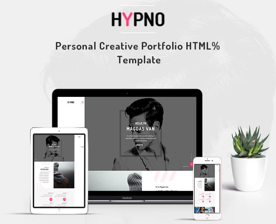 Hypno - Mẫu trang web danh mục đầu tư sáng tạo cá nhân
