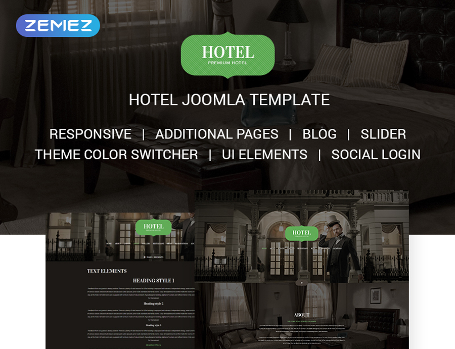 Khách sạn, Du lịch & Casino Joomla Template