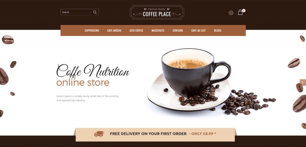 Mẫu OpenCart Coffee Place