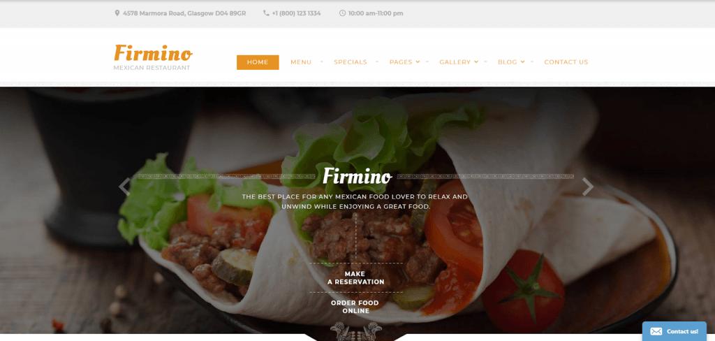 Mẫu trang web đa năng của nhà hàng - nhà hàng Mexico