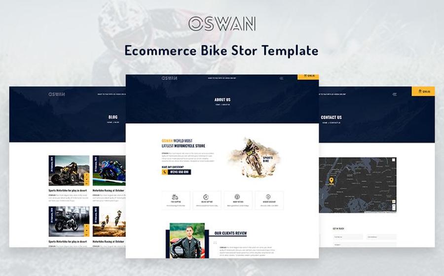 Oswan - Mẫu trang web cửa hàng xe đạp thương mại điện tử