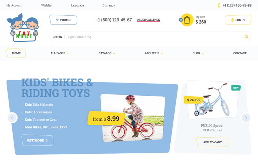 ToyMart - Lưu trữ cho mẫu trang web cho trẻ em