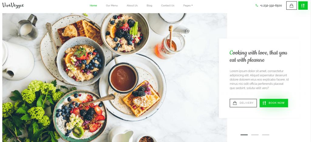 Viva Veggie - Cafe & Restaurant WordPress Chủ đề