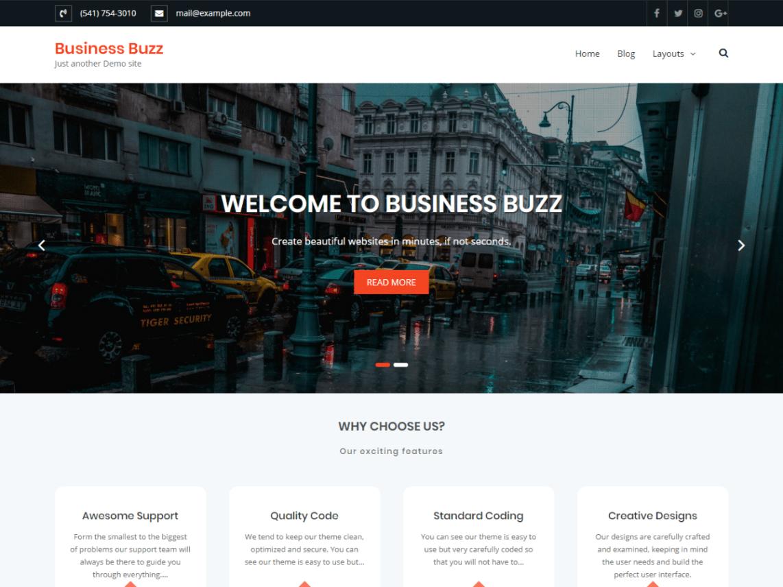 Business Buzz Theme Miễn phí Tải về