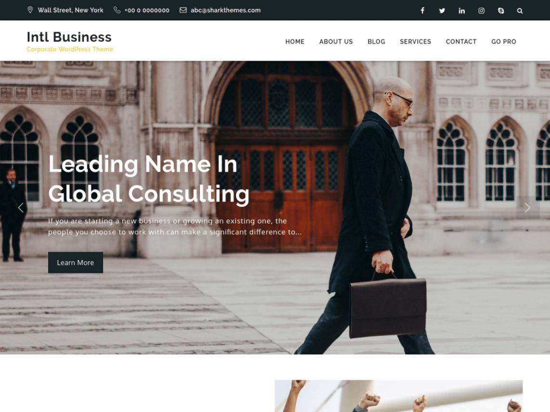 Intl Business Theme Miễn phí Tải về
