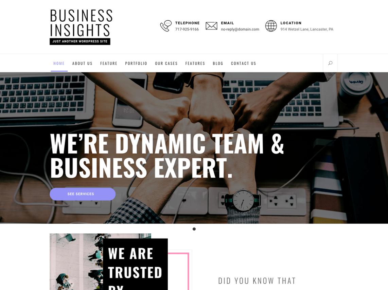 Business Insights Theme Miễn phí Tải về