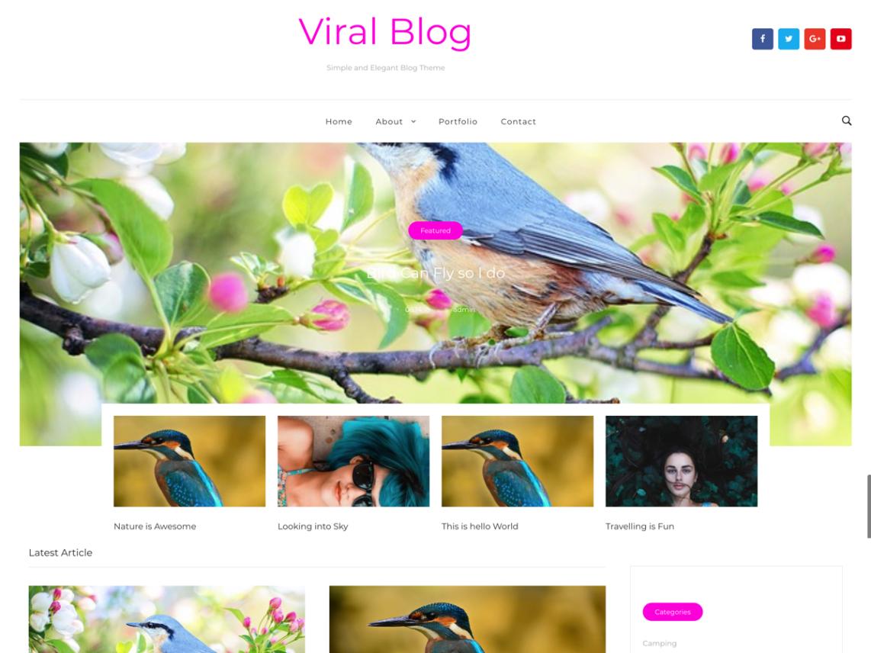24 giao diện website Blog miễn phí dành cho wordpress