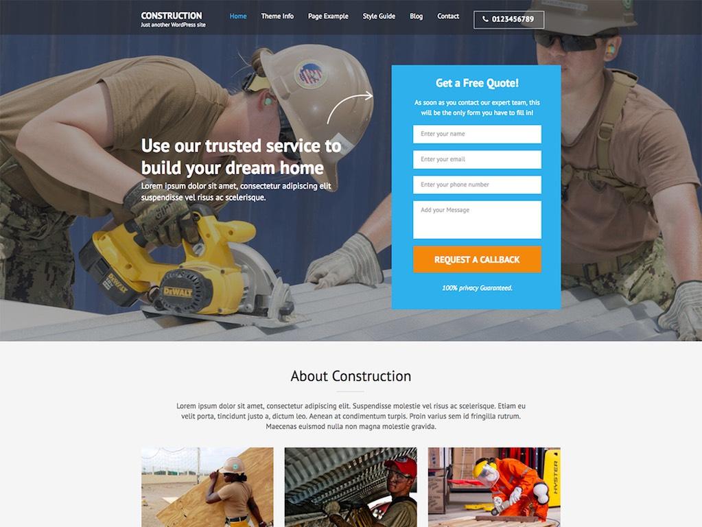 Construction Landing Page-phút