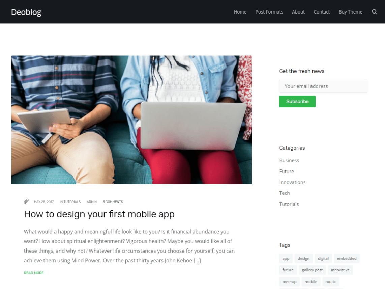 Deoblog Lite Theme Miễn phí Tải về