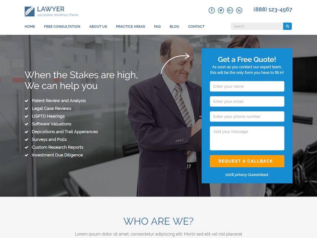 Lawyer Landing Page - Sale Page-min