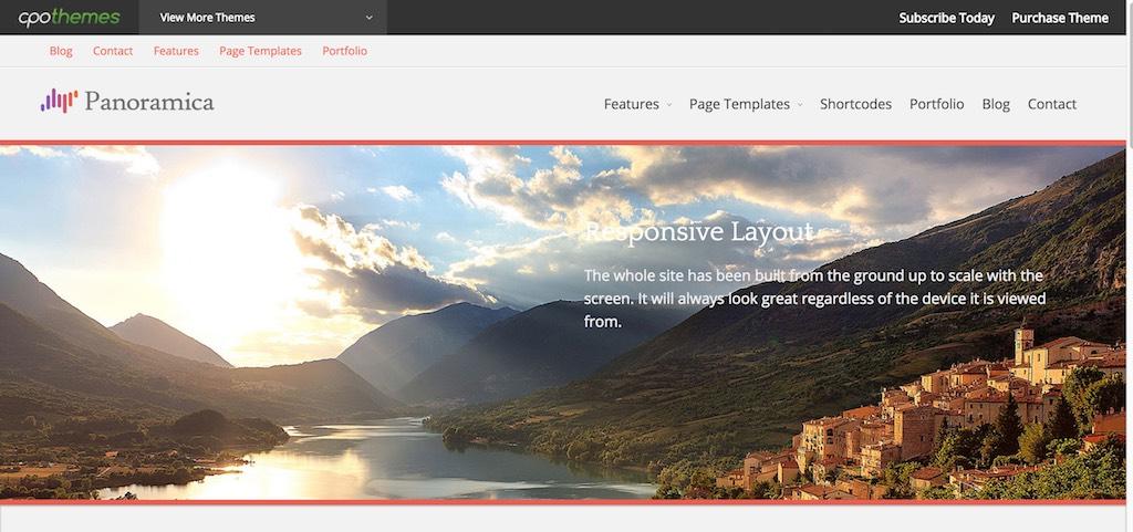 Panoramica Pro - Chỉ một trang web thu thập CPOThemes khác-phút
