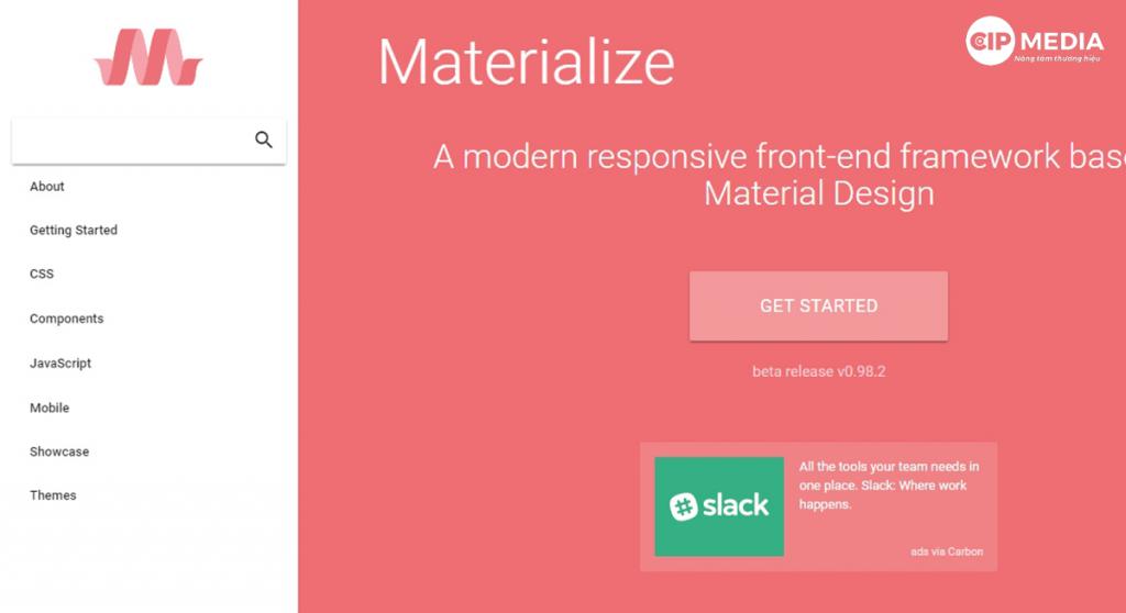 Tìm hiểu Website Material là gì