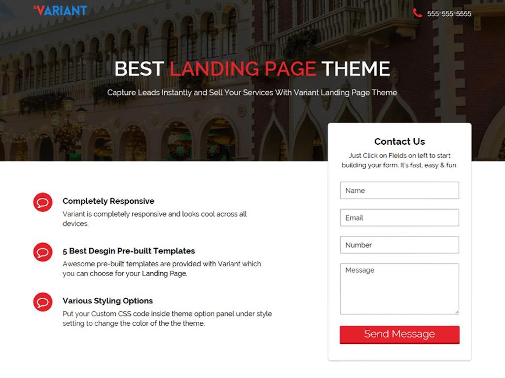 Variant Landing Page-phút