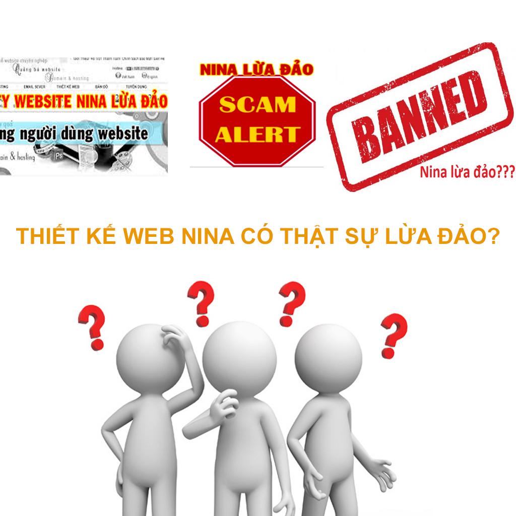 Thiết kế web Nina có thật sự lừa đảo?