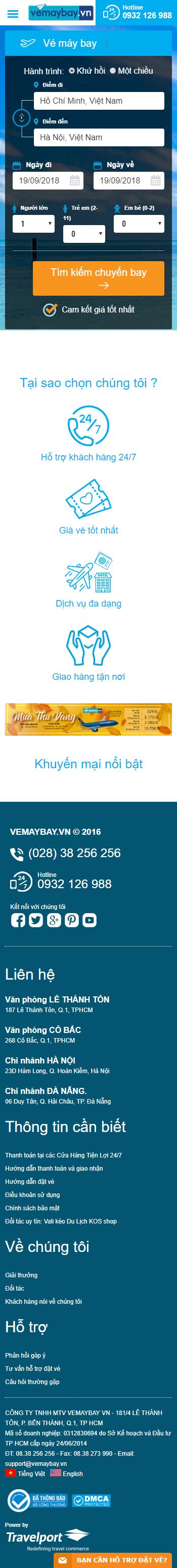 thiết kế website đặt vé máy bay trực tuyến