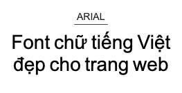 font chữ thiết kế web arial