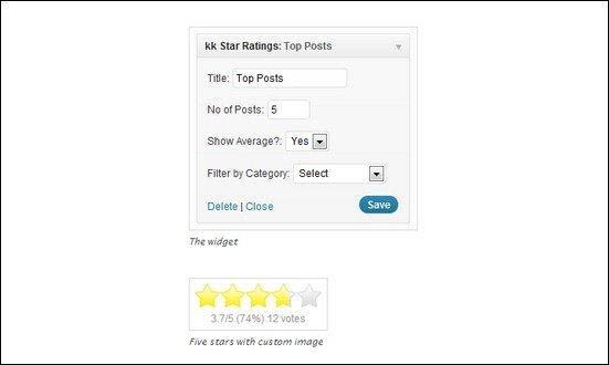 plugin đánh giá bài viết wordpress kk star